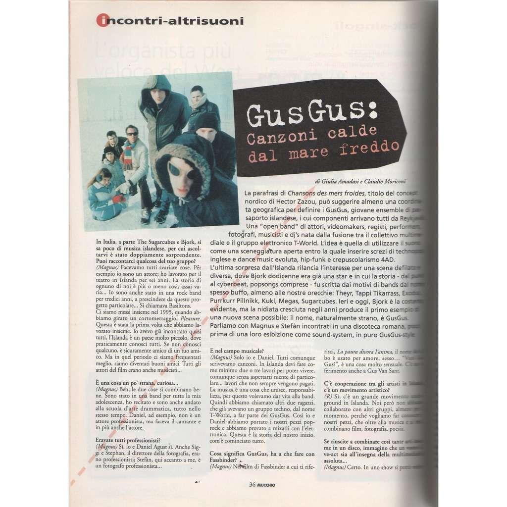 gus gus Mucchio Selvaggio (N.261 June 1997) (Italian 1997 music magazine!!)