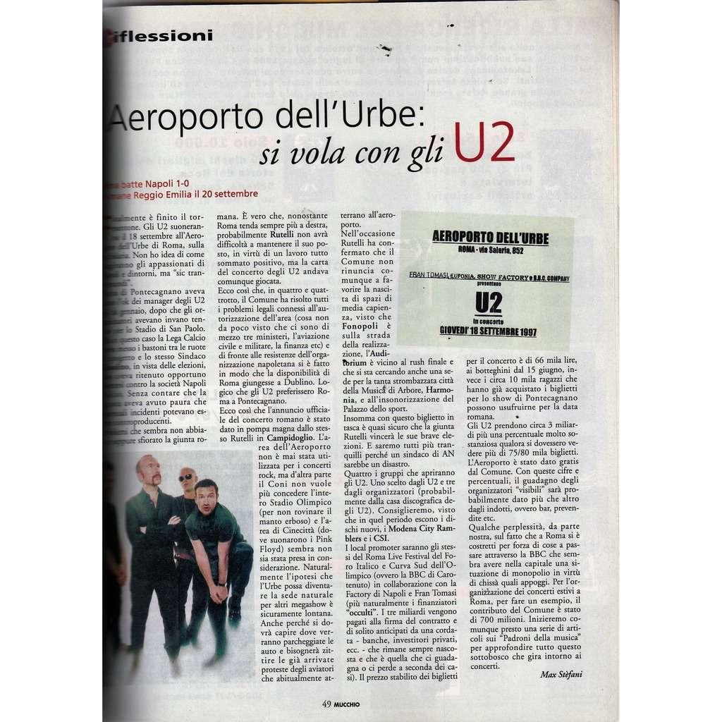 U2 Mucchio Selvaggio (N.261 June 1997) (Italian 1997 music magazine!!)