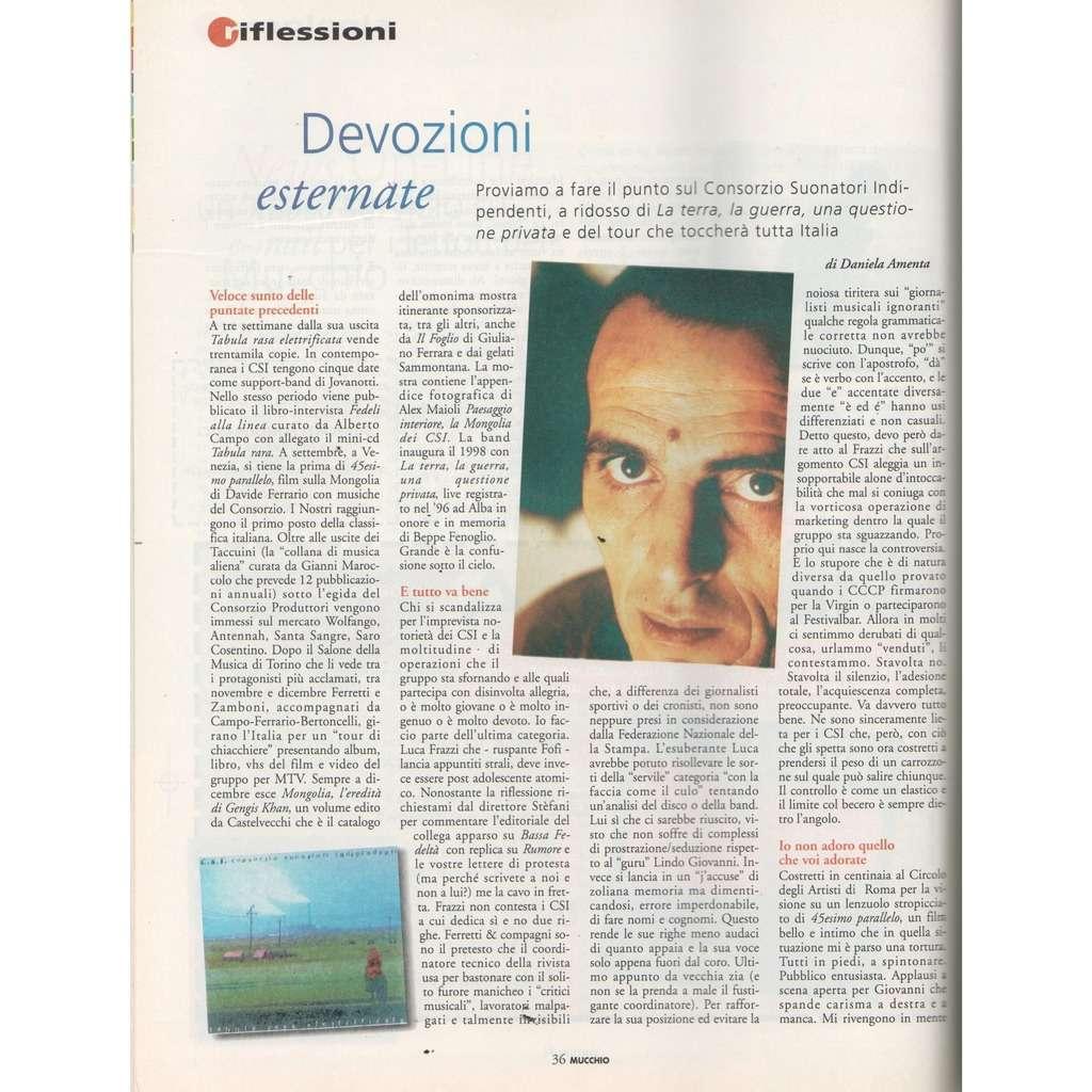 CCCP / CSI Mucchio Selvaggio (N.290 Feb. 1998) (Italian 1998 music magazine!!)