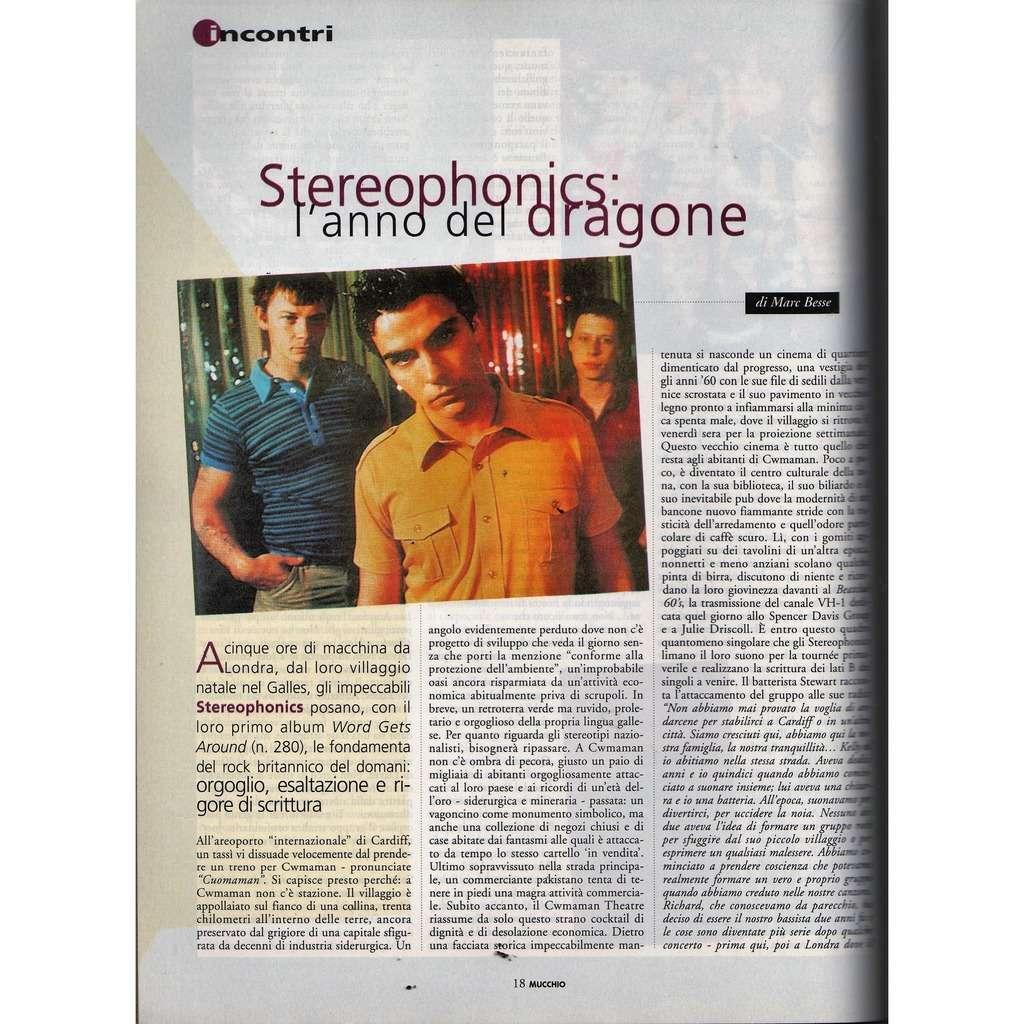 Stereophonics Mucchio Selvaggio (N.291 09.02.1998) (Italian 1998 music magazine)
