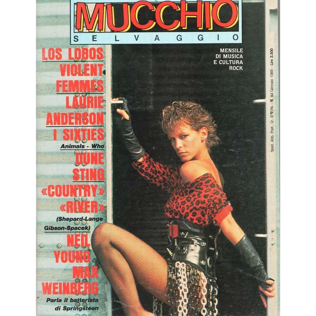 Jamie Lee Curtis Mucchio Selvaggio (N.84 Jan. 1985) (Italian 1985 Jamie Lee Curtis front cover magazine!!)