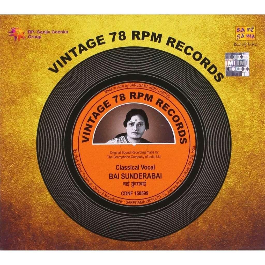 Bai Sunderbai Vintage 78 RPM Records