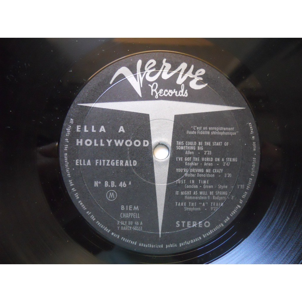Ella 224 Hollywood Ultra Rare French Picture Sleeve Ella