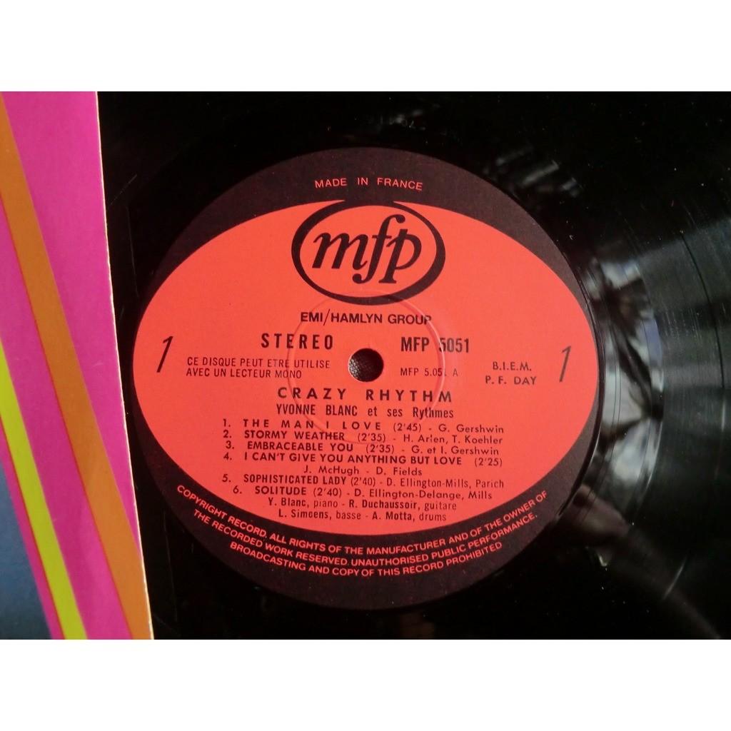 Yvonne BLANC et ses RYTHMES Crazy Rhythm (original French press - 1969 - Fleepback + Versindex cover - BIEM - great conditons)