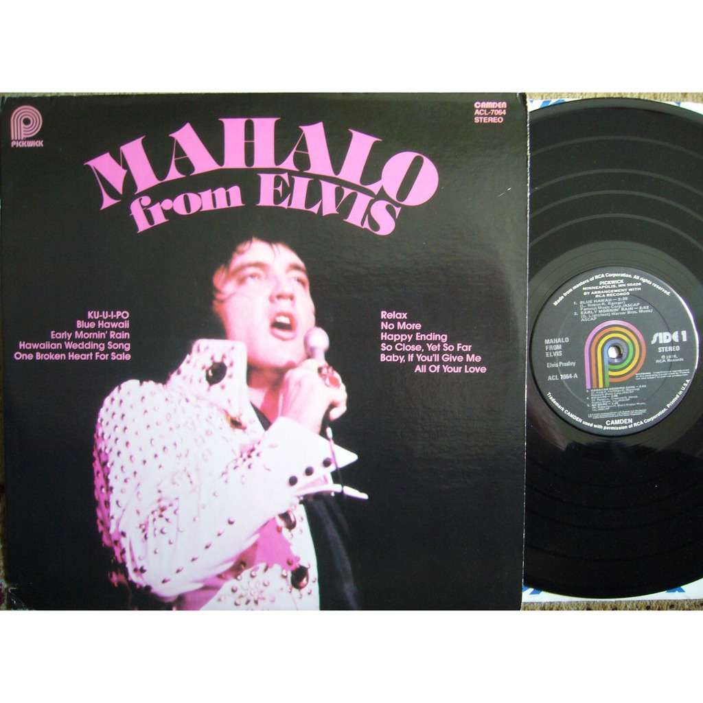 Elvis Presley Mahalo From Elvis USA PICKWICK ACL-7064 MINT