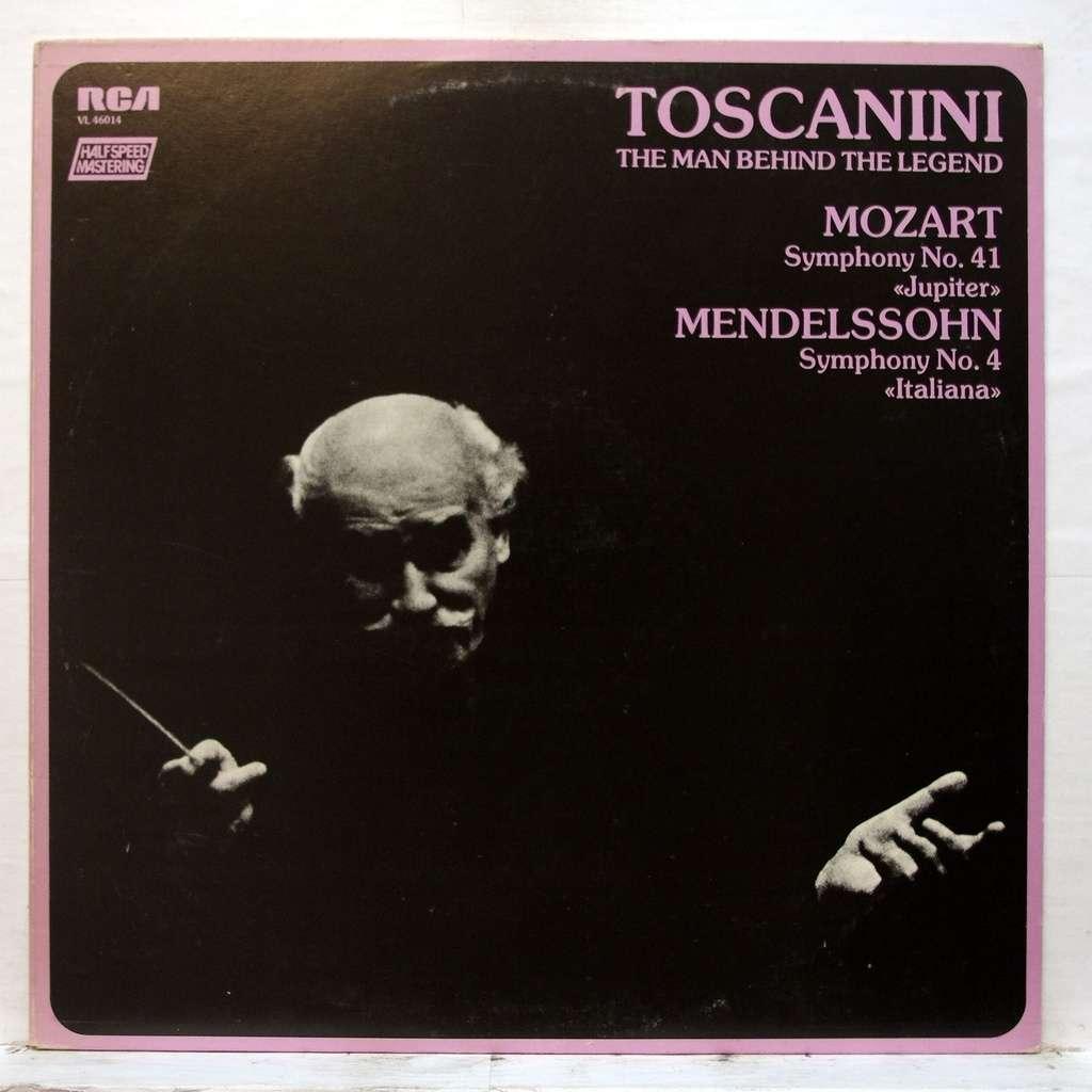 arturo toscanini mozart : symphony no 41 / mendelssohn : symphony no 4