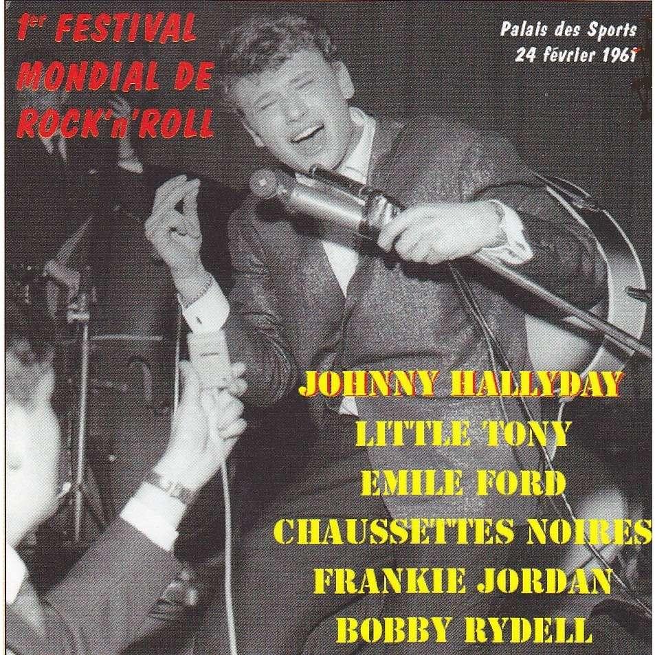 JOHNNY HALLYDAY 1ER FESTIVAL MONDIAL DE ROCK'N'ROLL 25 CM - JUKEBOXMAG.COM