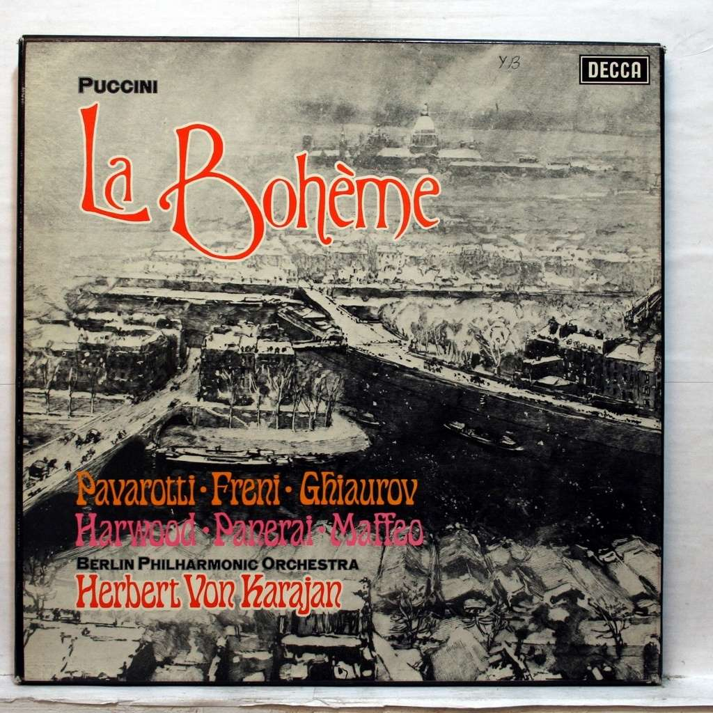 Puccini La Bohème Von Herbert Von Karajan Lp Box Set Bei