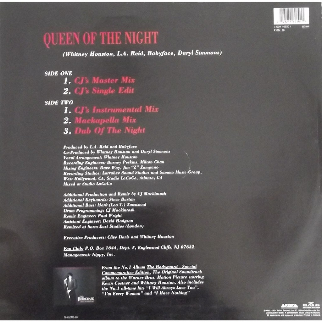 Queen of the night by Whitney Houston, 12inch with vinyl59