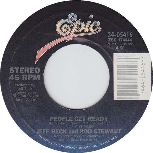 Jeff Beck And Rod Stewart ‎ People Get Ready / Back On The Street