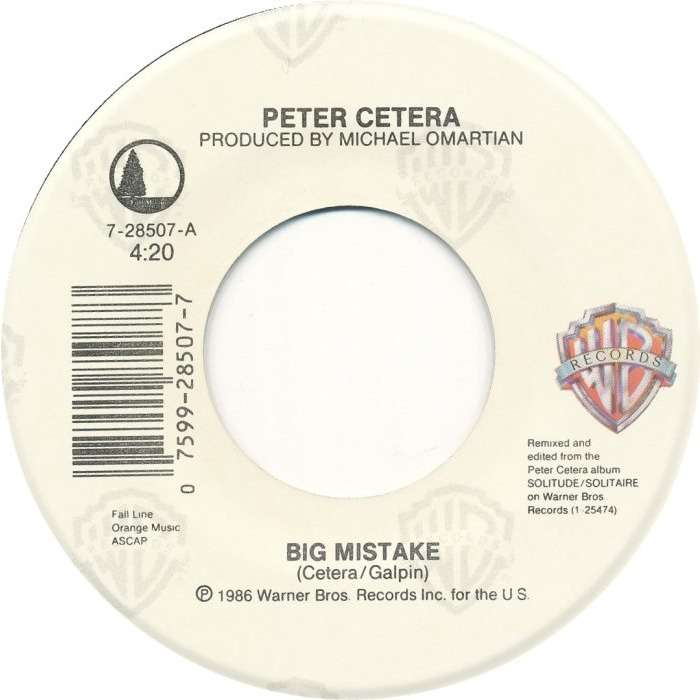 cher and peter cetera Big Mistake