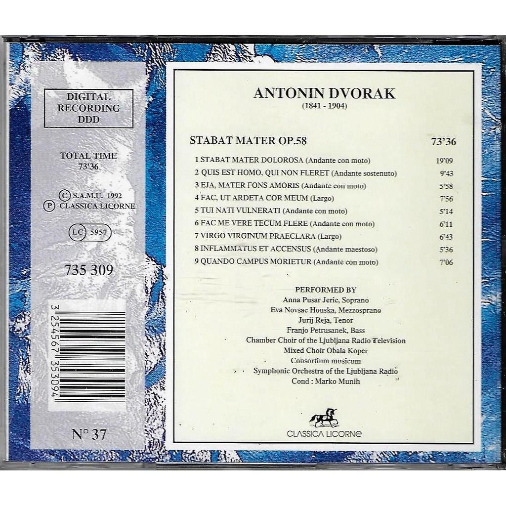 anna pusar jeric , eva novsak houska , jurij reja antonin dvorak : Stabat Mater Op.58