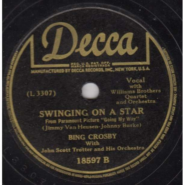 BING CROSBY SWINGING ON A STAR / GOING MY WAY