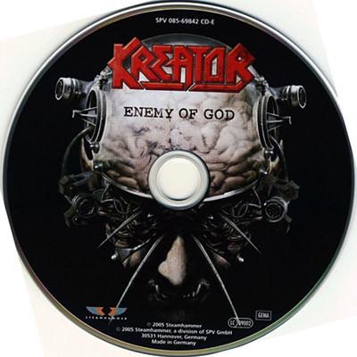 Enemy of god by Kreator, CD with ledotakas