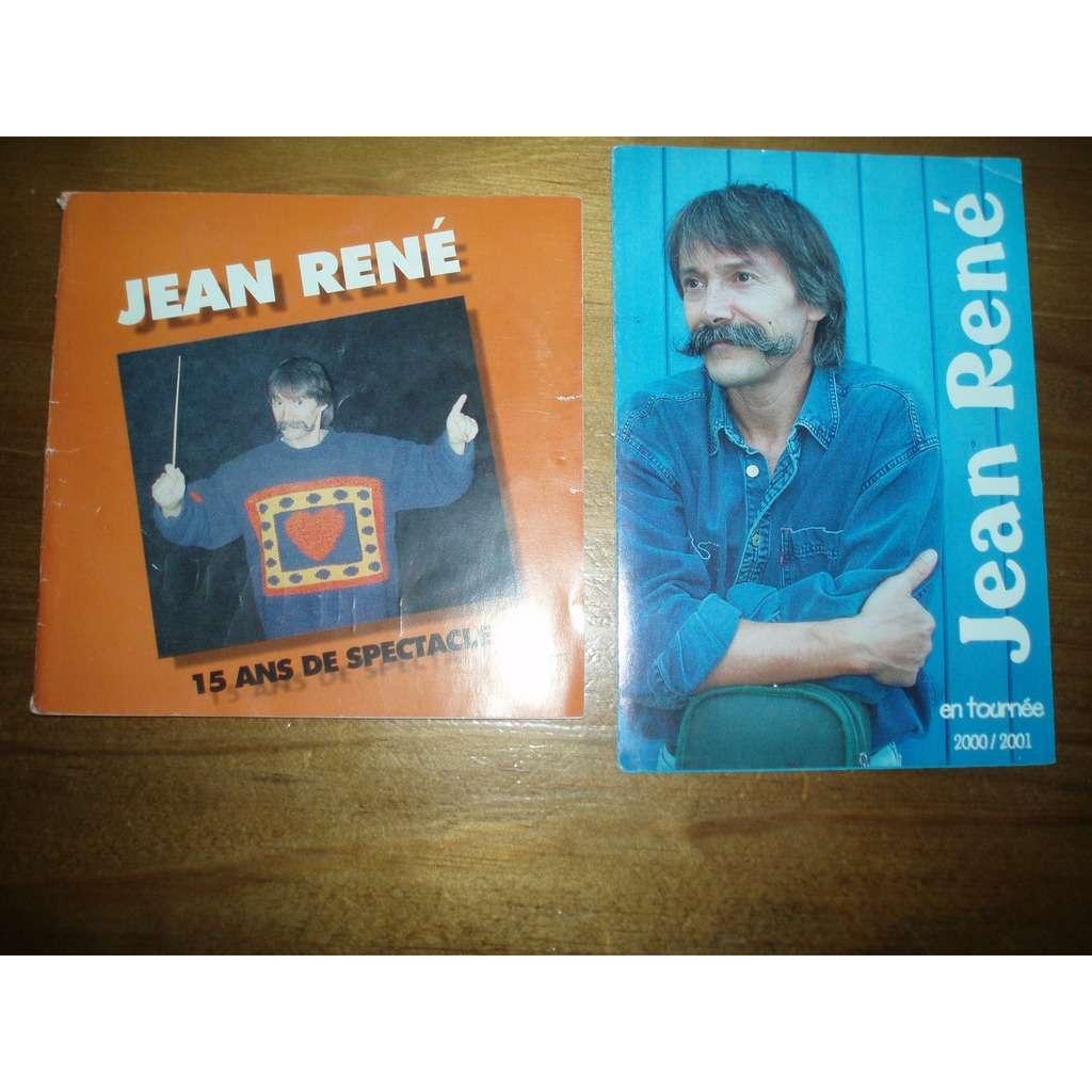 JEAN RENE 15 ANS DE SPECTACLE / EN TOURNEE 2000 / 2001.