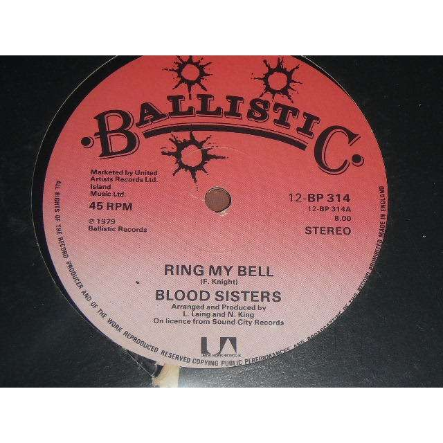 blood sisters ring my bell (killer reggae funk on ballistic records)