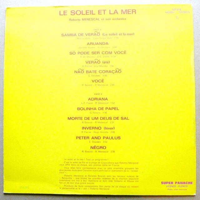Roberto Menescal Et Son Orchestre Le Soleil Et La Mer