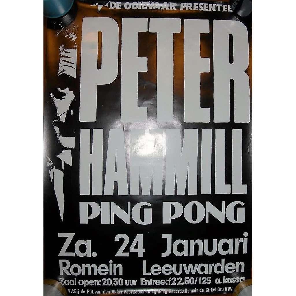Van Der Graaf Generator / PETER HAMMILL Theater Romain in Leeuwarden 24.01.1998 (Holland 1998 original promo concert poster!!)