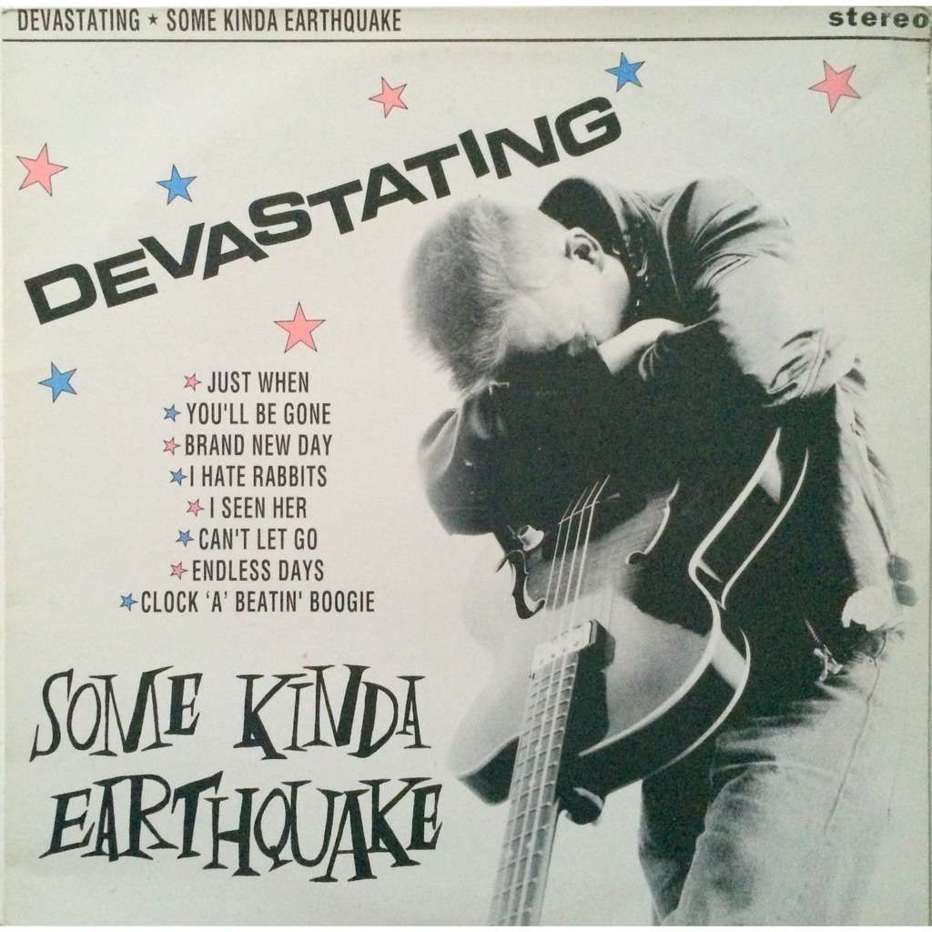 SOME KINDA EARTHQUAKE - DEVASTATING (U.K. PRESSING 12 VINYL LP)