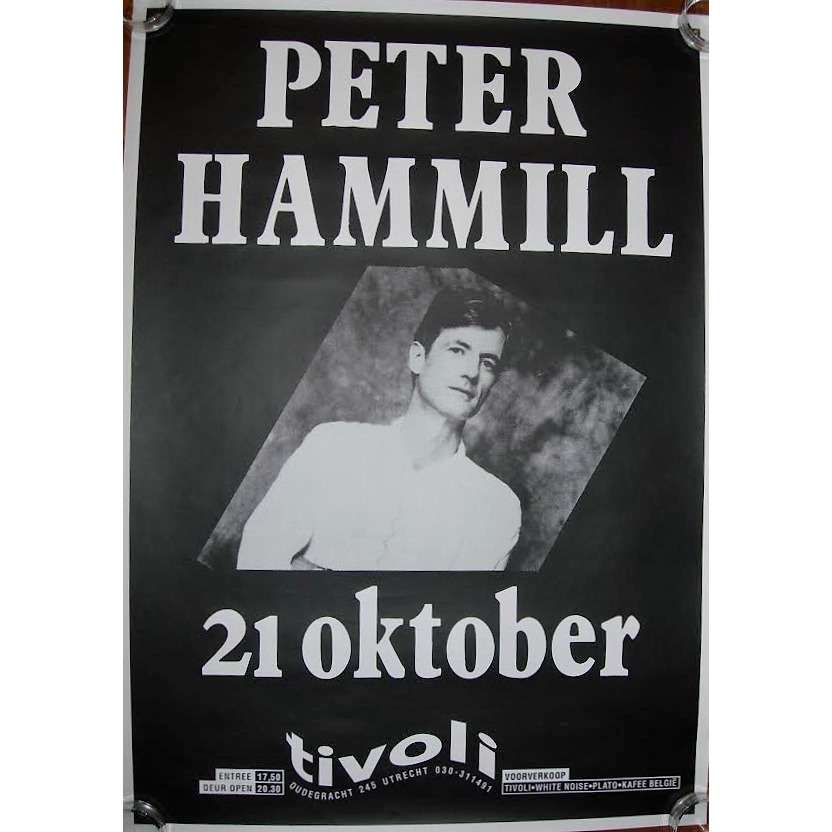 Van Der Graaf Generator / PETER HAMMILL Tivoli, in Utrecht 21.10.1990 (Holland 1990 original promo concert poster!!)