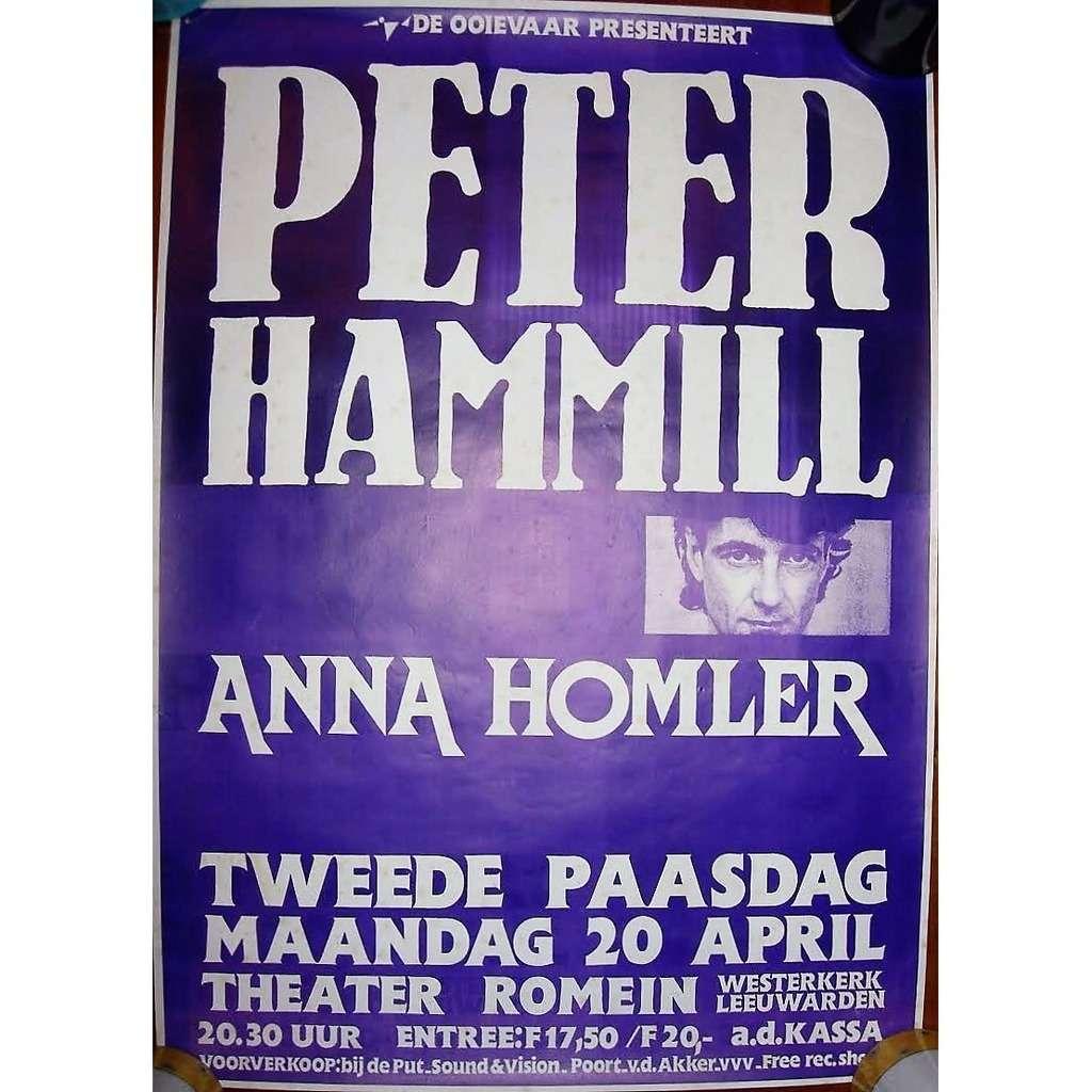Van Der Graaf Generator / PETER HAMMILL Theatre Romain Westerkerk in Leeuwarden 20.04.1992 (Holland 1992 original promo concert poster!!)