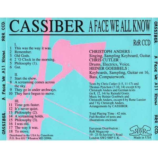 Cassiber  A Face We All Know