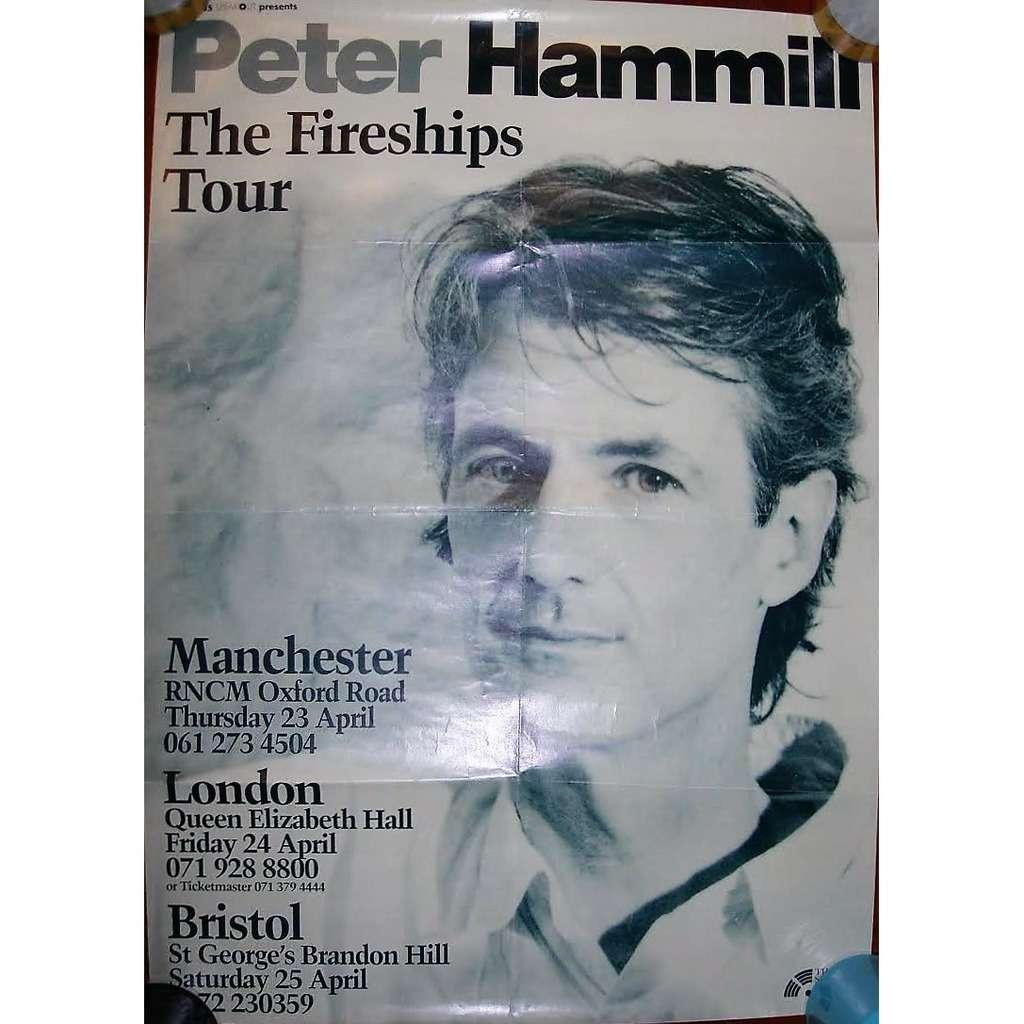 Van Der Graaf Generator / PETER HAMMILL The Fireships Tour UK 1992 (UK 1992 original promo tour dates poster!!)