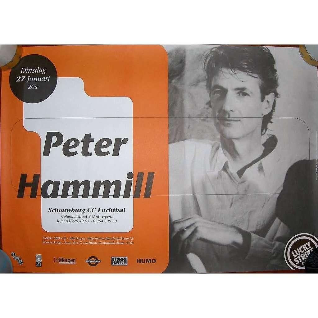 Van Der Graaf Generator / PETER HAMMILL CC Luchtbal in Antwerpen 27.01.1998 (Belgium 1998 original promo concert poster!)