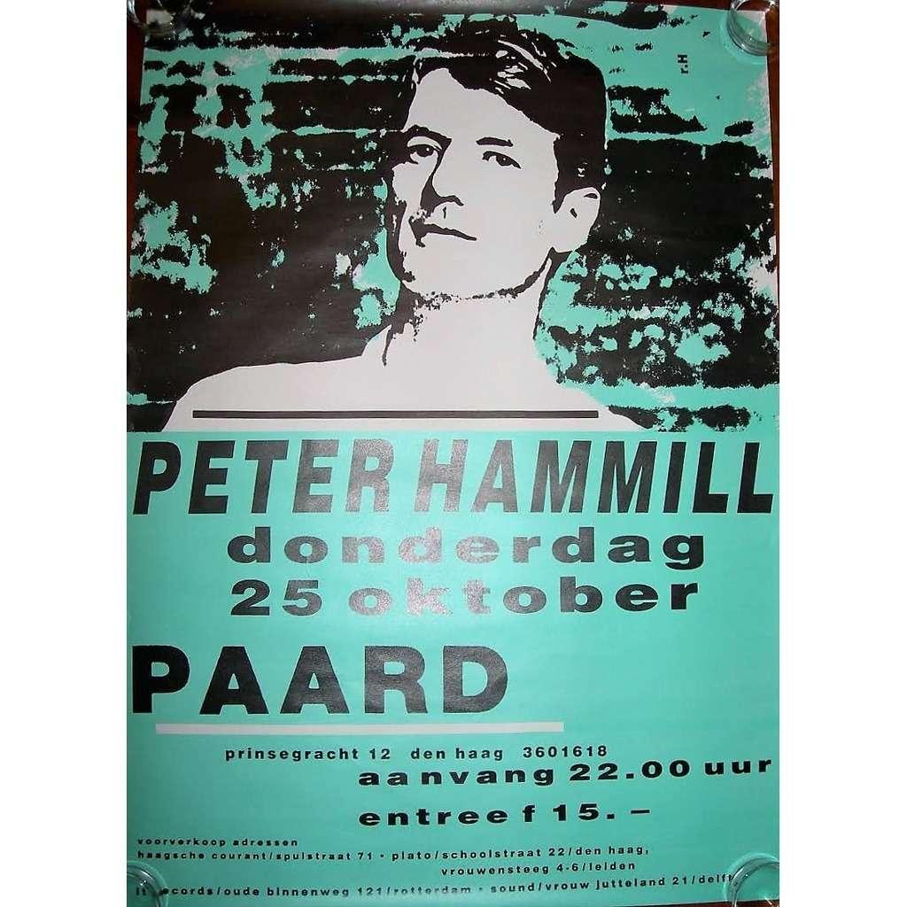 Van Der Graaf Generator / PETER HAMMILL Paard, in Den Haag 25.10.1990 (Holland 1990 original promo concert poster)