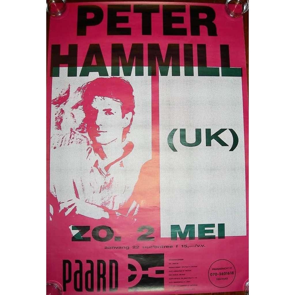Van Der Graaf Generator / PETER HAMMILL Paard, in Den Haag 02.05.1993 (Holland 1993 original promo concert poster!!)
