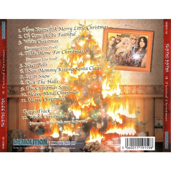 twisted sister a twisted christmas uk pressing 1 cd - A Twisted Christmas