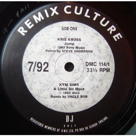 Kris Kross /Kym Sims /Squeeze /Dina Carroll Jump /A Little Bit More /Take Me I'm Yours /Ain't No Man [Remix Culture 7/92 ]