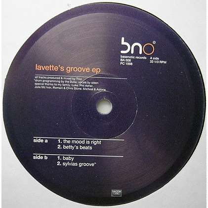 Tiko Lavette's Groove EP (The Mood Is Right / Betty's Beats / Baby / Sylvias Groove )