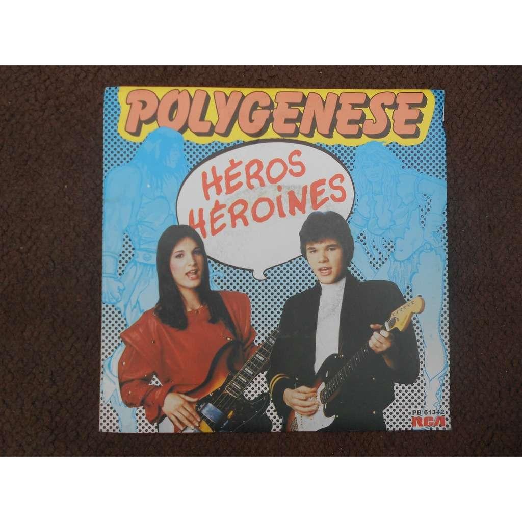 polygenese héros héroïnes - rock'n'roll