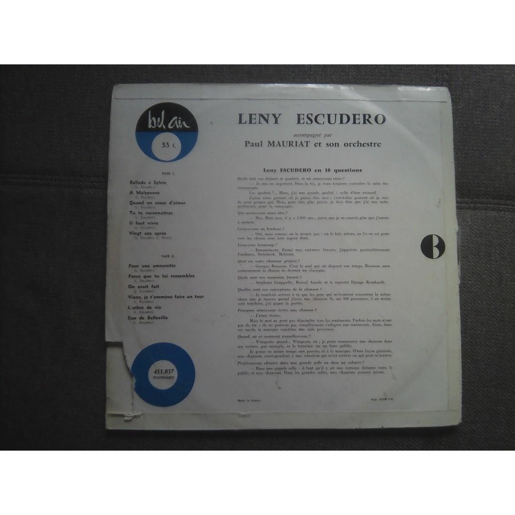 Leny Escudero - Ballade A Sylvie Leny Escudero - Ballade A Sylvie