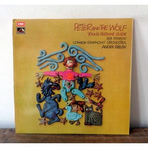 prokofiev peter and the wolf de andre previn & mia farrow, 33t chez