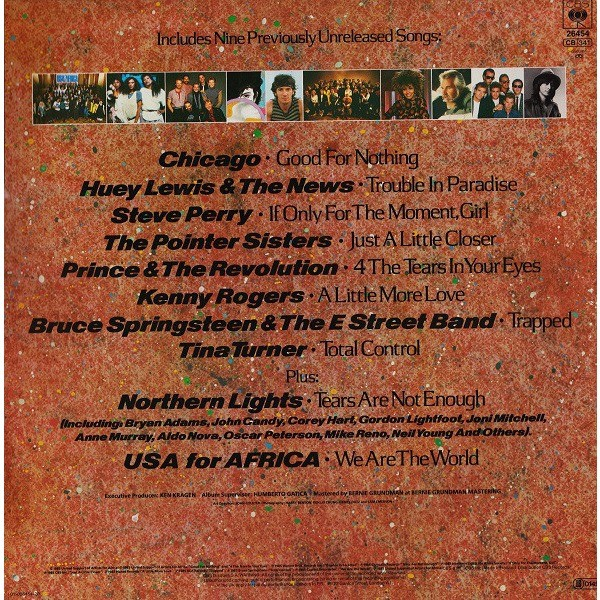 We Are The World By Usa For Africa V A Artists Lp