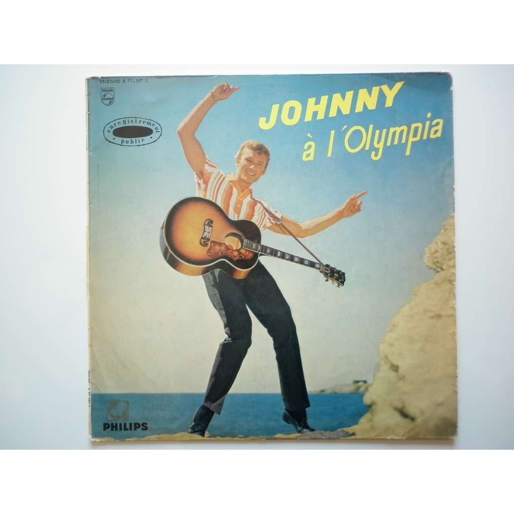 Johnny Hallyday Johnny A L'Olympia sans les titres sur pochette