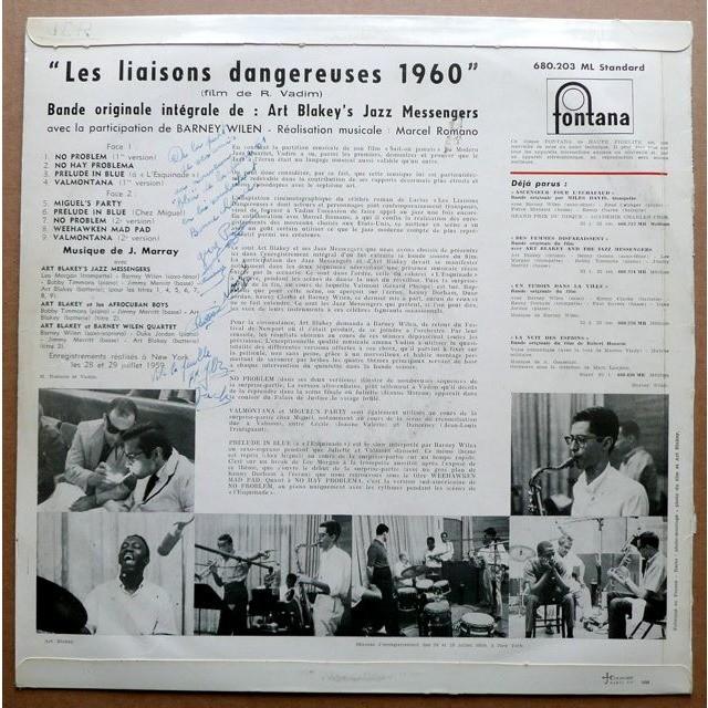 Art Blakey's Jazz Messengers avec Barney Wilen Les Liaisons Dangereuses 1960