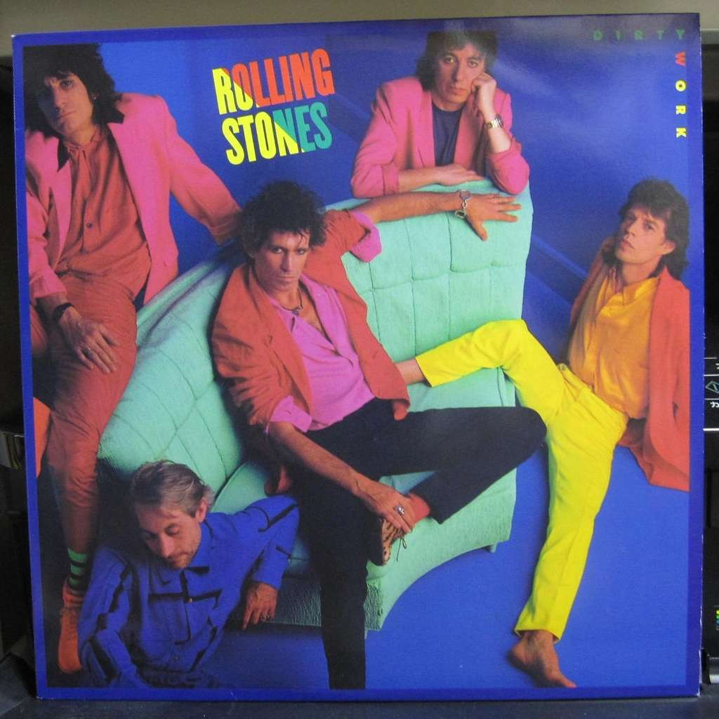 Dirty work by Rolling Stones, LP with jappress - Ref