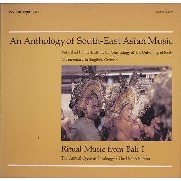 bali, an anthology of south-east asian music ritual music from bali 1