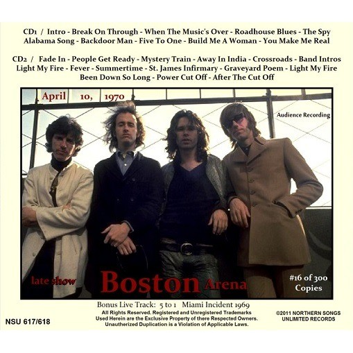 ... jim morrison \u0026 the doors LIVE AT THE BOSTON ARENA 1970 APRIL 10TH LTD 2CD ...  sc 1 st  CD and LP & Live at the boston arena 1970 april 10th ltd 2cd by Jim Morrison ...