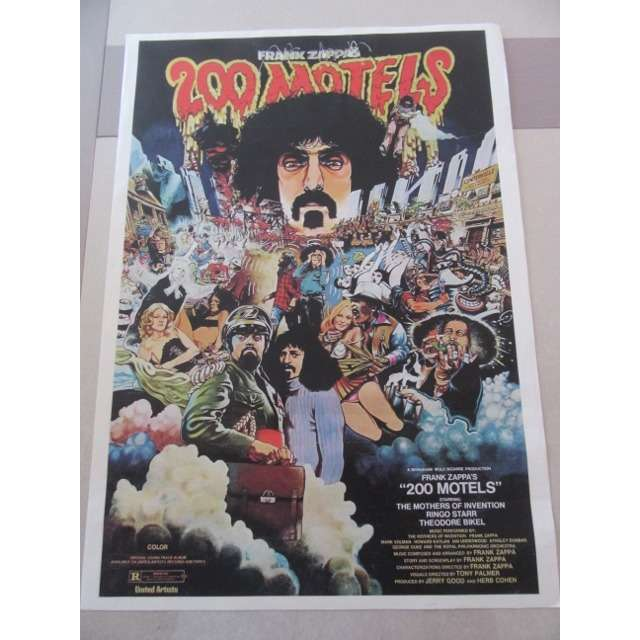 FRANK ZAPPA AFFICHE COULEUR