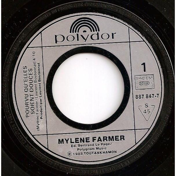 Mylene Farmer Pourvu Qu'elles Soient Douces / Puisque...