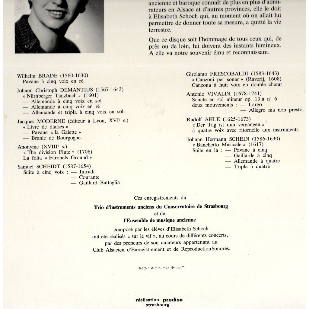 elisabeth schoch Hommage à Elisabeth Schoch ( Musique Classique Conservatoire de Strasbourg )