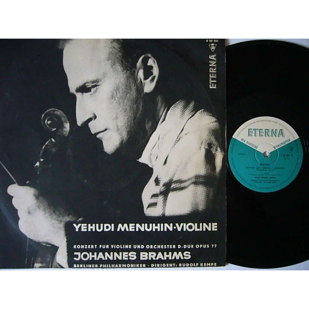 Yehudi Menuhin Beethoven Violin Concerto Kempe DDR ETERNA 820 261 EX+