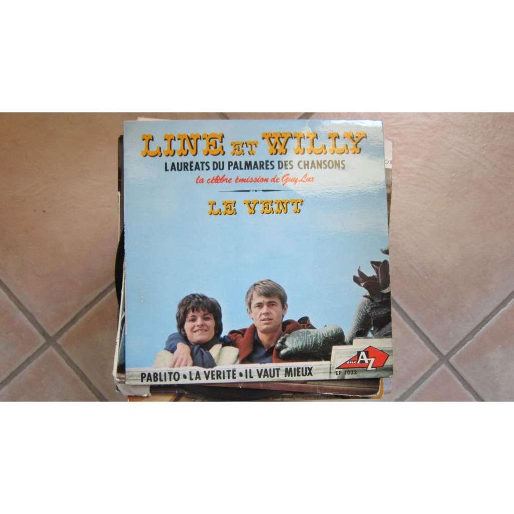 Line et Willy Le vent (avec sa languette)