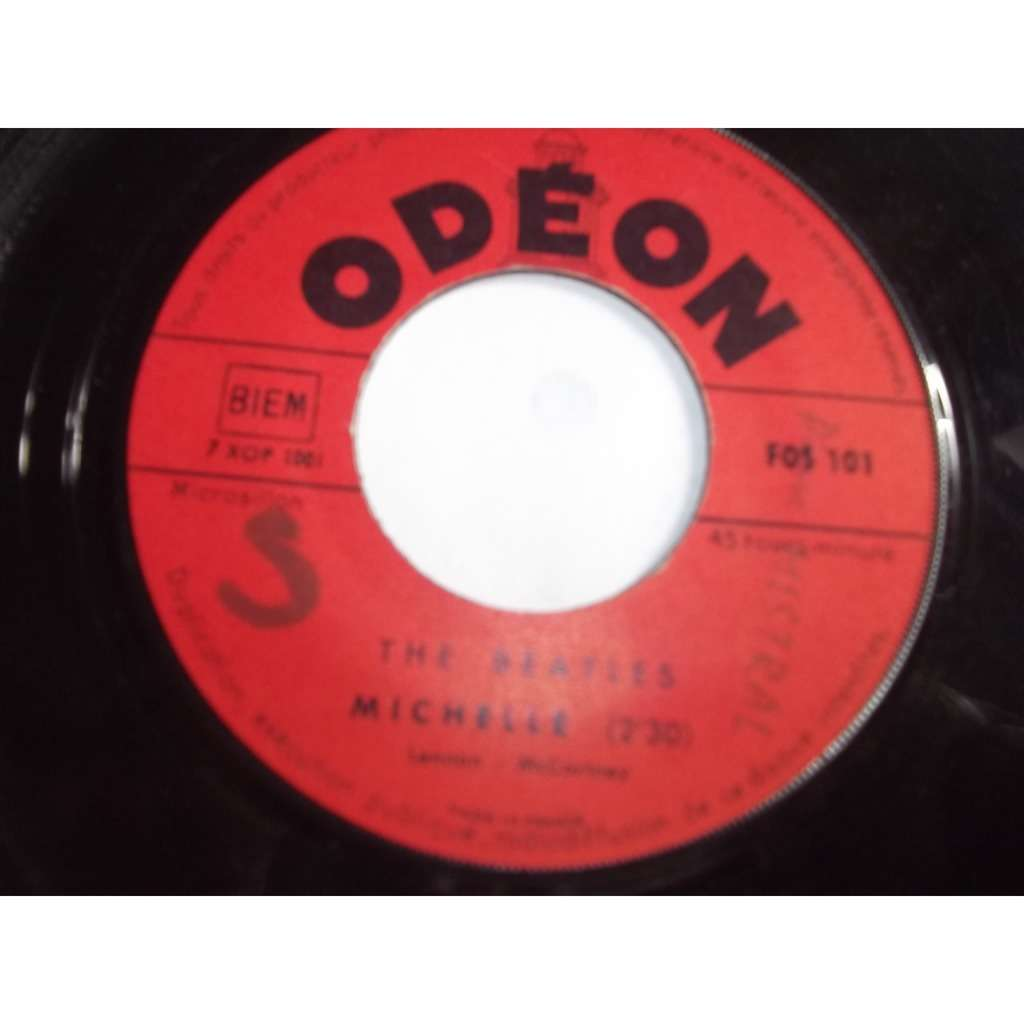the beatles michelle / run for your life (jukebox pressage)