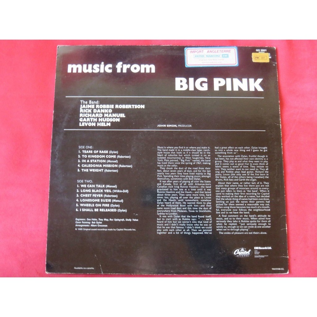 The Band - Music From Big Pink (LP Album RE) The Band - Music From Big Pink (LP Album RE)