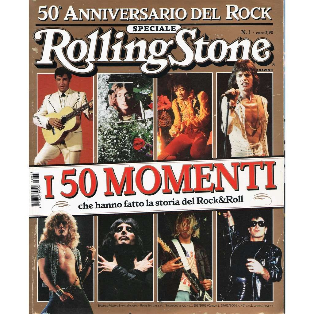 Led Zeppelin Rolling Stone Speciale (N.1 2004) (Italian 2004 Plant front cover deluxe '50° Ann.' magazine!!)